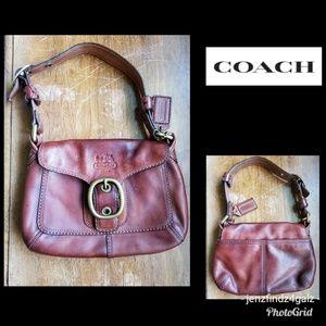 Vintage Coach Brown Leather Handbag Excellent